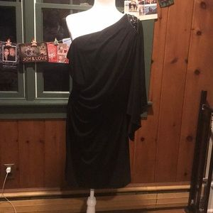 EUC Black One Shoulder Dress